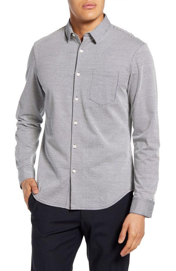 Men's Club Monaco Slim Fit Stripe Button-Down Shirt
