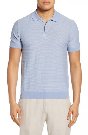 Men's Club Monaco Slim Fit Stripe Polo, Size Small - Blue
