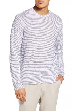 Men's Club Monaco Slim Fit Stripe Shirt Linen T-Shirt