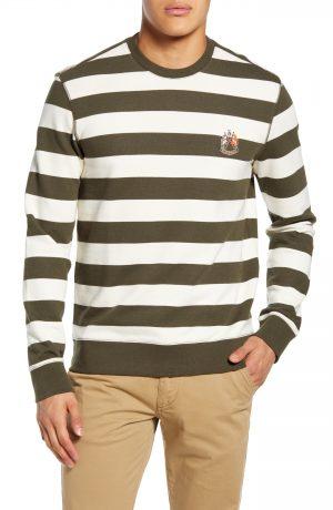 Men's Club Monaco Slim Fit Wide Stripe Sweatshirt
