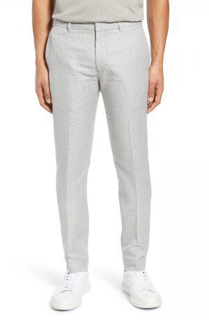 Men's Club Monaco Sutton Micro Check Pants, Size 28 - Grey