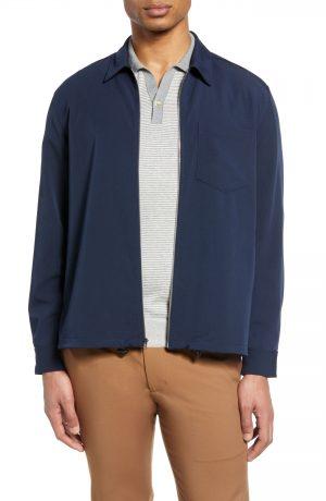 Men's Club Monaco Zip Jacket, Size X-Small - Blue
