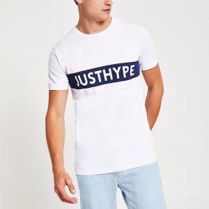 Mens Hype white 'Just hype' short sleeve T-shirt