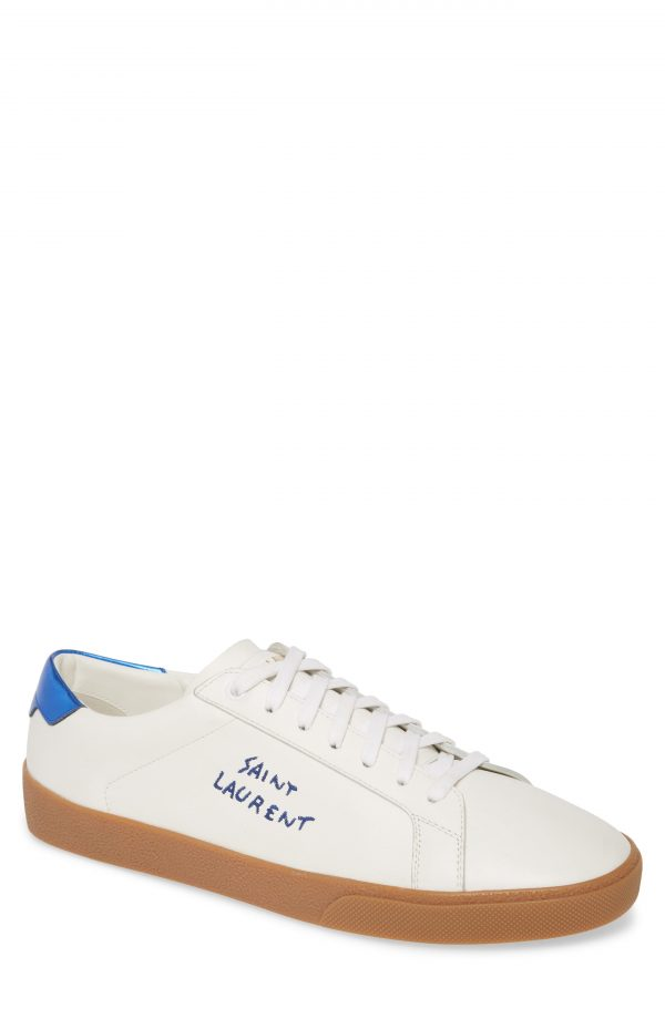 Men's Saint Laurent Low Top Sneaker, Size 10US / 43EU - White