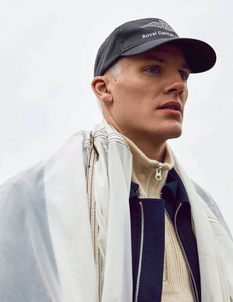 Mikkel Jensen Goes Ice Blond for Euroman