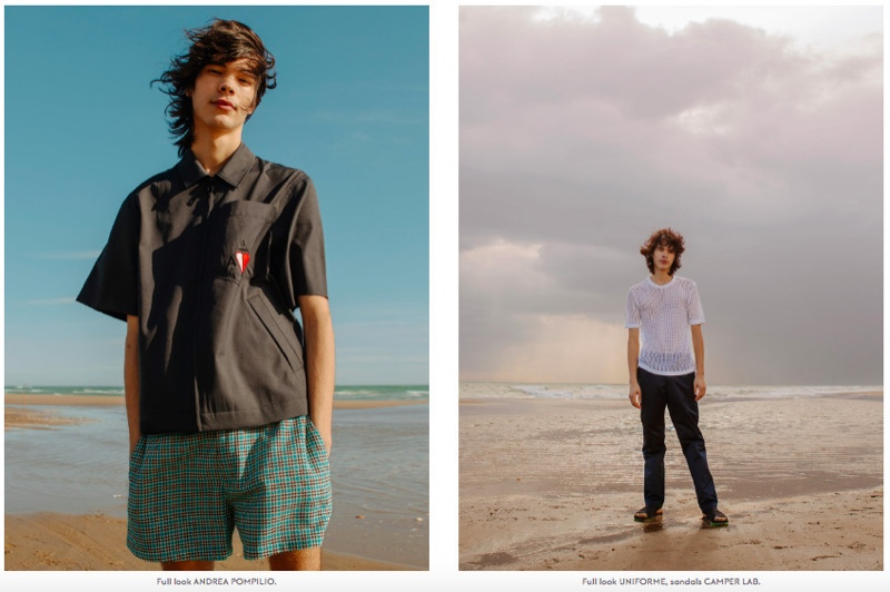 Nour Prims Hits the Beach for Metal Magazine