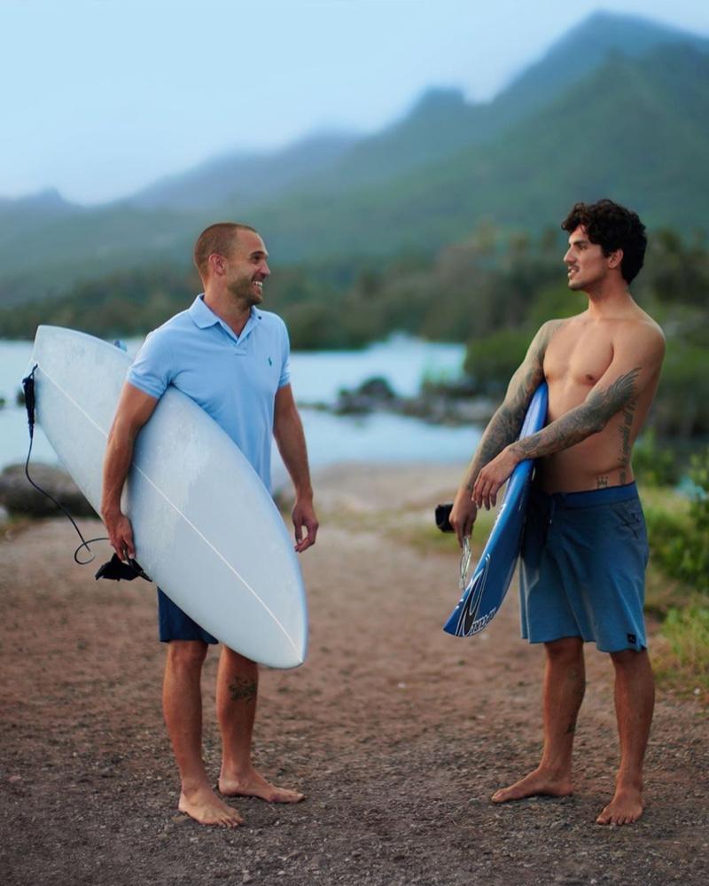 Surfers Corey Wilson and Gabriel Medina embody the spirit of POLO Deep Blue.