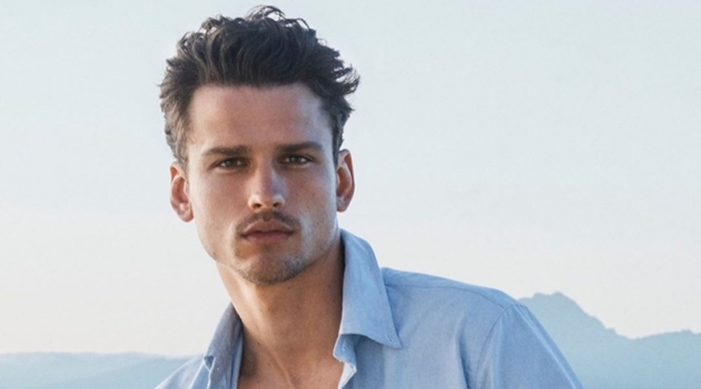 Simon Nessman stars in the POLO Ralph Lauren Deep Blue fragrance campaign.