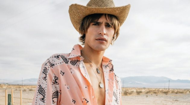 Parker is a Fashion Cowboy for Vogue Hommes Cover Story