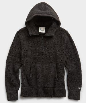 Polartec Sherpa Hoodie in Black