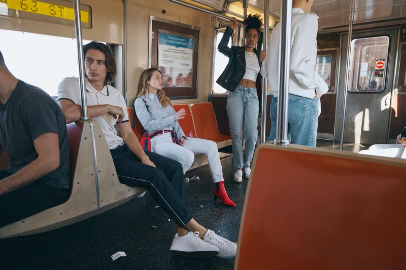 Models James Turlington, Dylan Penn, and Ajani Russell appear in Rag & Bone's spring-summer 2020 campaign.