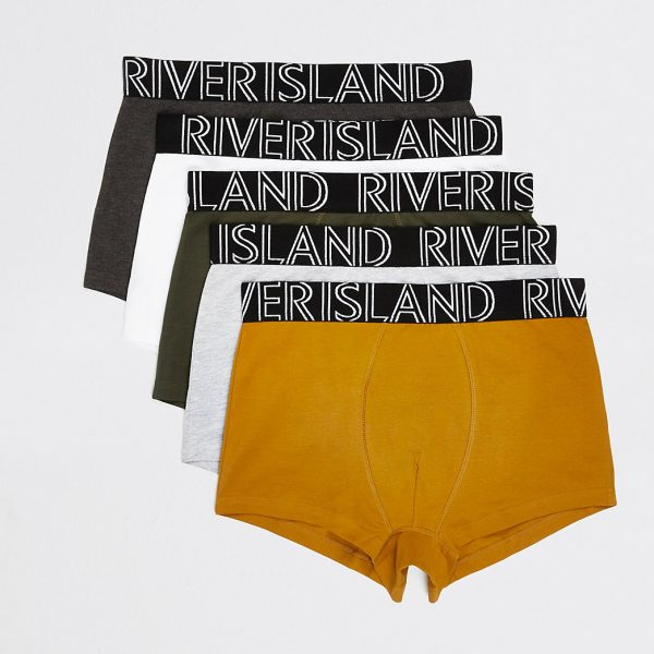 River Island Mens Multicoloured RI hipsters 5 pack