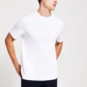 River Island Mens White regular fit short sleeve T-shirt
