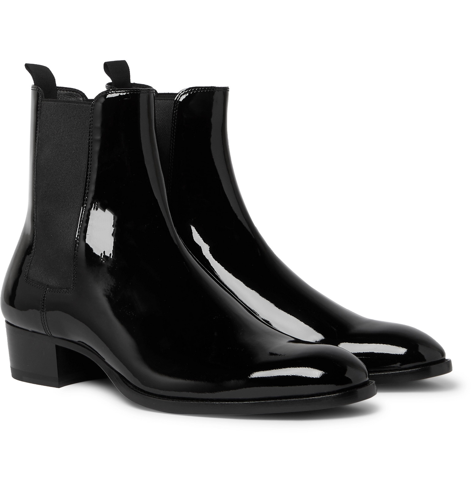 Wyatt Patent-Leather Chelsea Boots