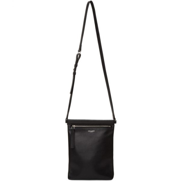 Saint Laurent Black Flat Sid Cross Body Bag