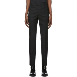 Saint Laurent Black Lame Trousers