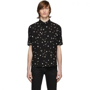 Saint Laurent Black Square Printed Shirt