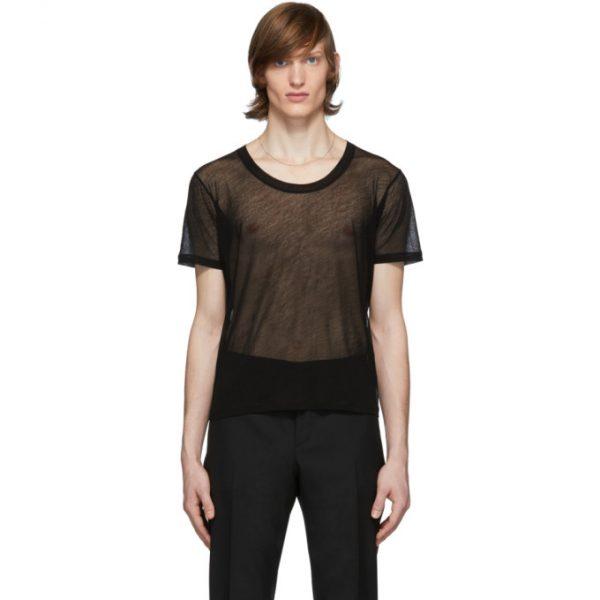 Saint Laurent Black Transparent T-Shirt