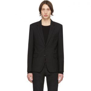 Saint Laurent Black Wool Gabardine Blazer