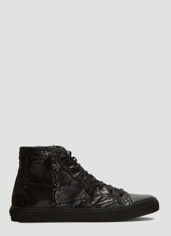 Saint Laurent Embroidered Bedford Sneakers in Black size EU - 41