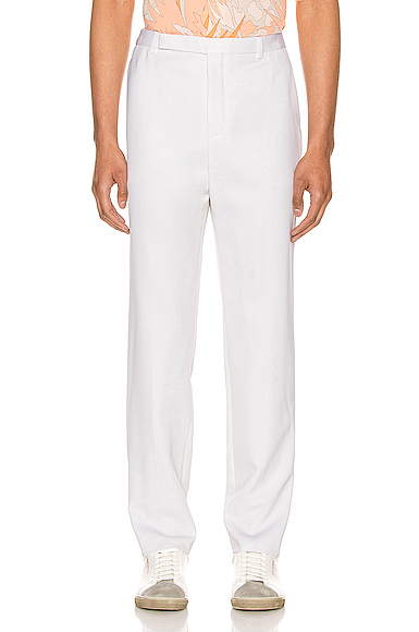 Saint Laurent Fit Trousers in White