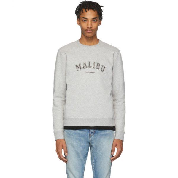 Saint Laurent Grey Malibu Sweatshirt