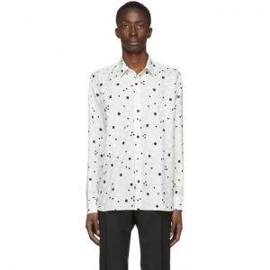 Saint Laurent Off-White Silk Brilliant Shirt