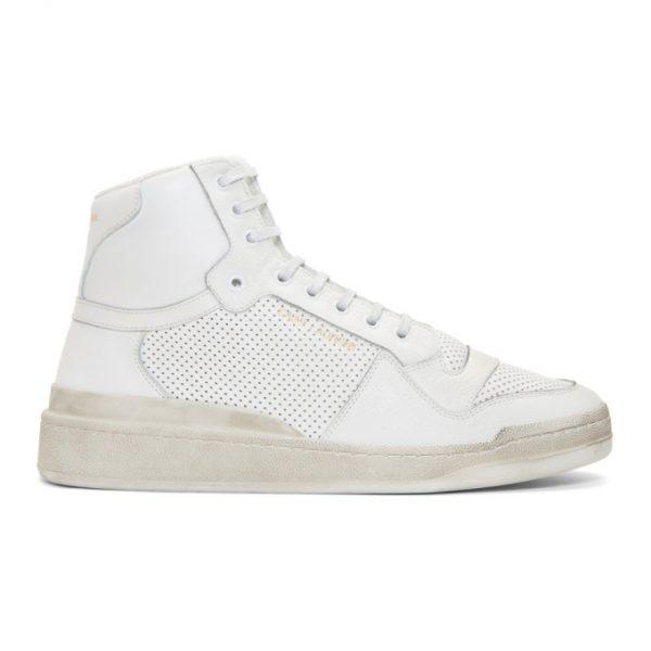 Saint Laurent Off-White Used-Look SL24 Sneakers
