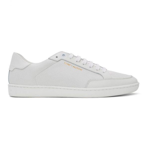 Saint Laurent White Court Classic SL10 Sneakers