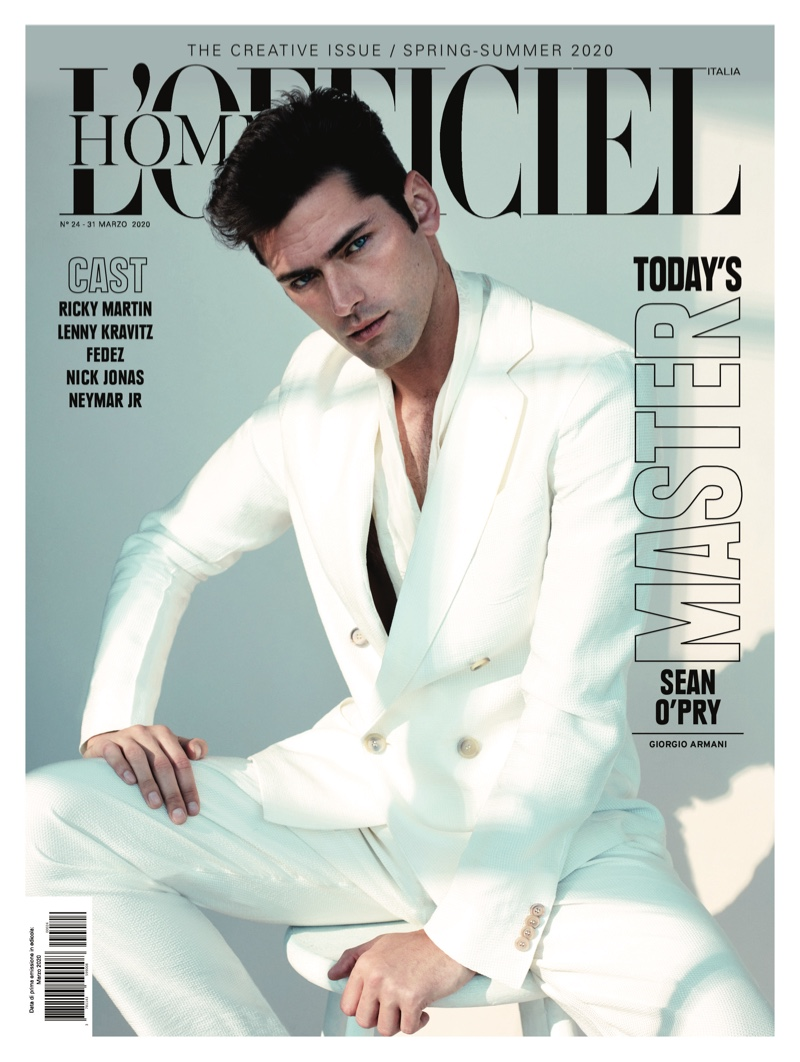 Sean is a Stylish Stunner for L'Officiel Hommes Italia