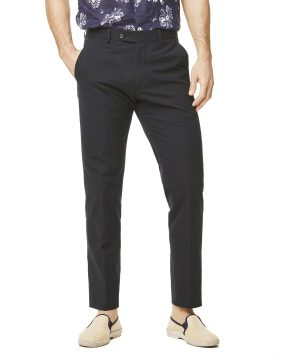 Seersucker Sutton Suit Trouser in Navy