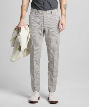 Seersucker Tab Dress Trouser