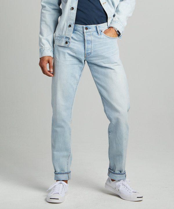 Slim Fit Japanese Selvedge Jean in Sun Bleach Wash
