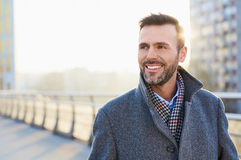 Smiling Attractive Older Man