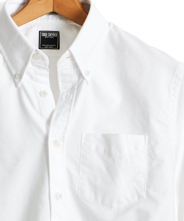 Solid Oxford Shirt in White
