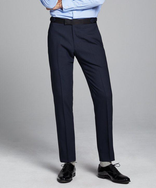 Sutton Tuxedo Pant in Italian Navy Wool
