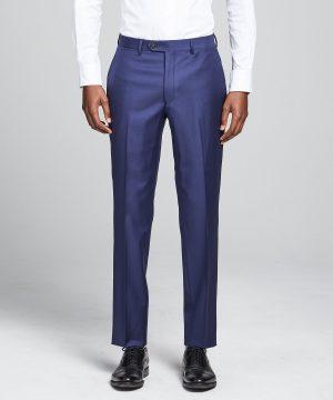 Sutton Wool Twill Suit Trouser In Blue