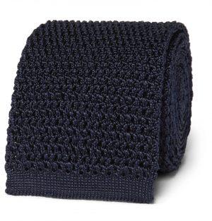 TOM FORD - 7.5cm Knitted Silk Tie - Men - Blue