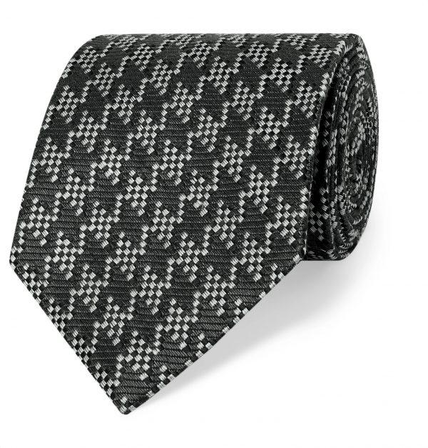 TOM FORD - 8cm Silk and Linen-Blend Tie - Men - Gray