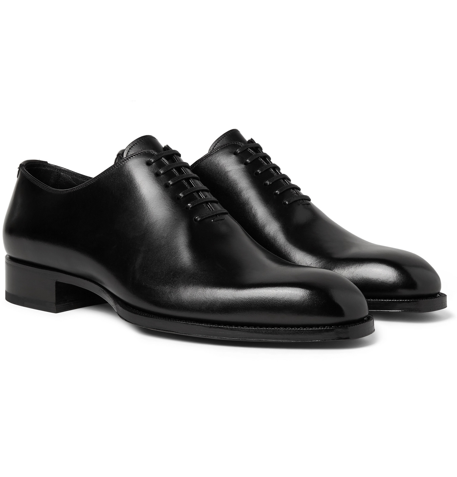 Elkan Whole-Cut Polished-Leather Oxford