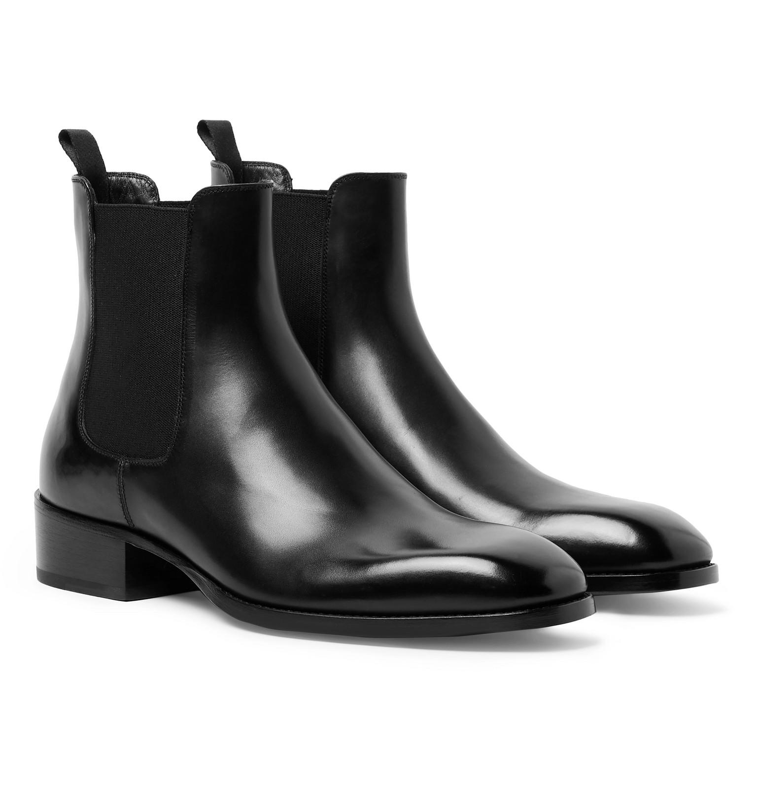 Hainaut Polished-Leather Chelsea Boots