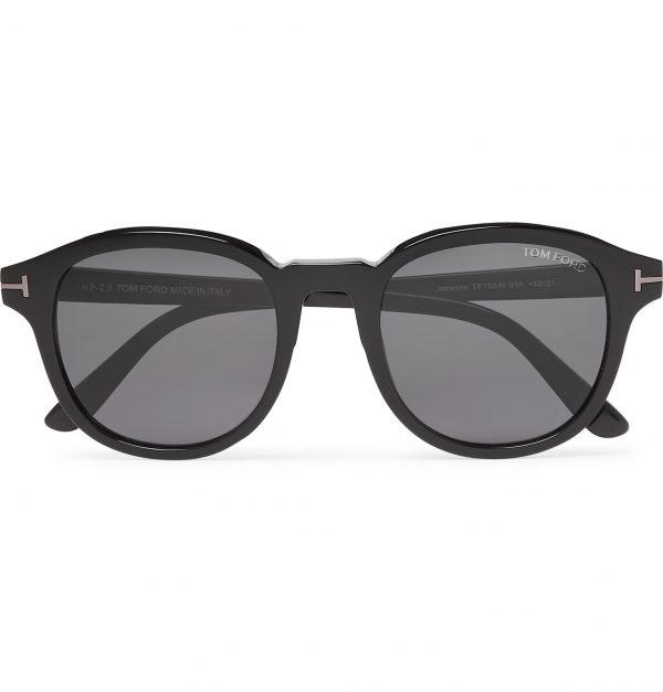TOM FORD - Round-Frame Acetate Sunglasses - Men - Black