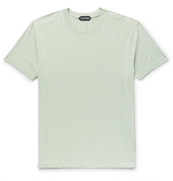 TOM FORD - Slim-Fit Lyocell and Cotton-Blend Jersey T-Shirt - Men - Green