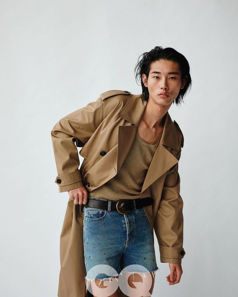 Tae Makes a Statement in Saint Laurent for GQ Korea