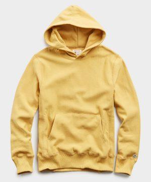 Terry Popover Hoodie Sweatshirt in Goldenrod
