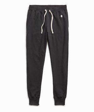 Terry Slim Jogger Sweatpant in Black