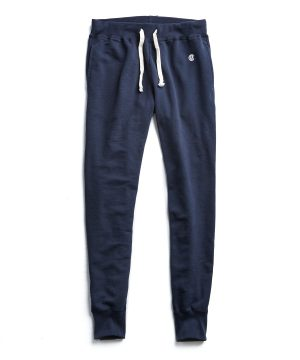 Terry Slim Jogger Sweatpant in Navy