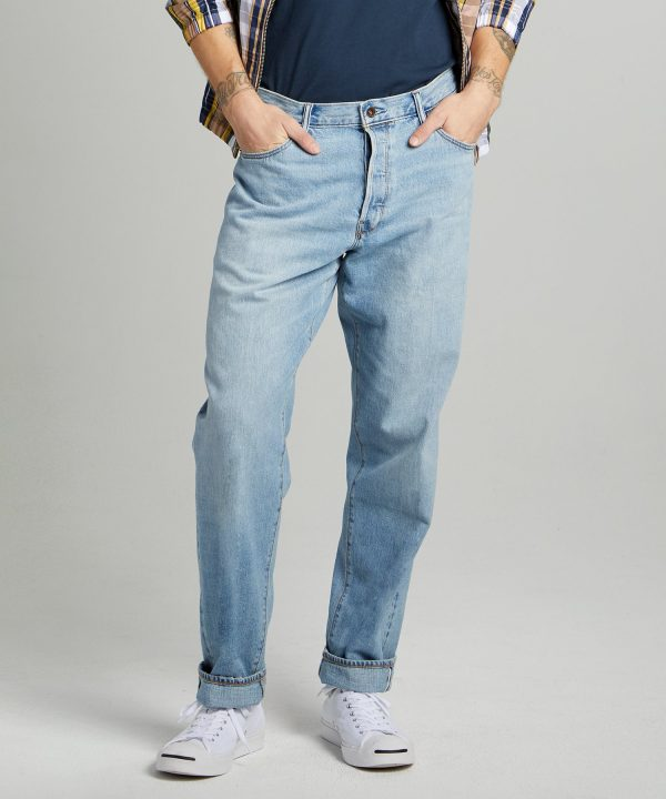 The Relaxed Jean in Selvedge Huxley Wash