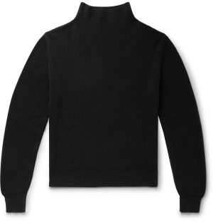 The Row - Daniel Ribbed Cashmere Mock-Neck Sweater - Men - Black