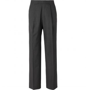 The Row - Dark-Grey Martin Wide-Leg Mélange Wool Suit Trousers - Men - Gray
